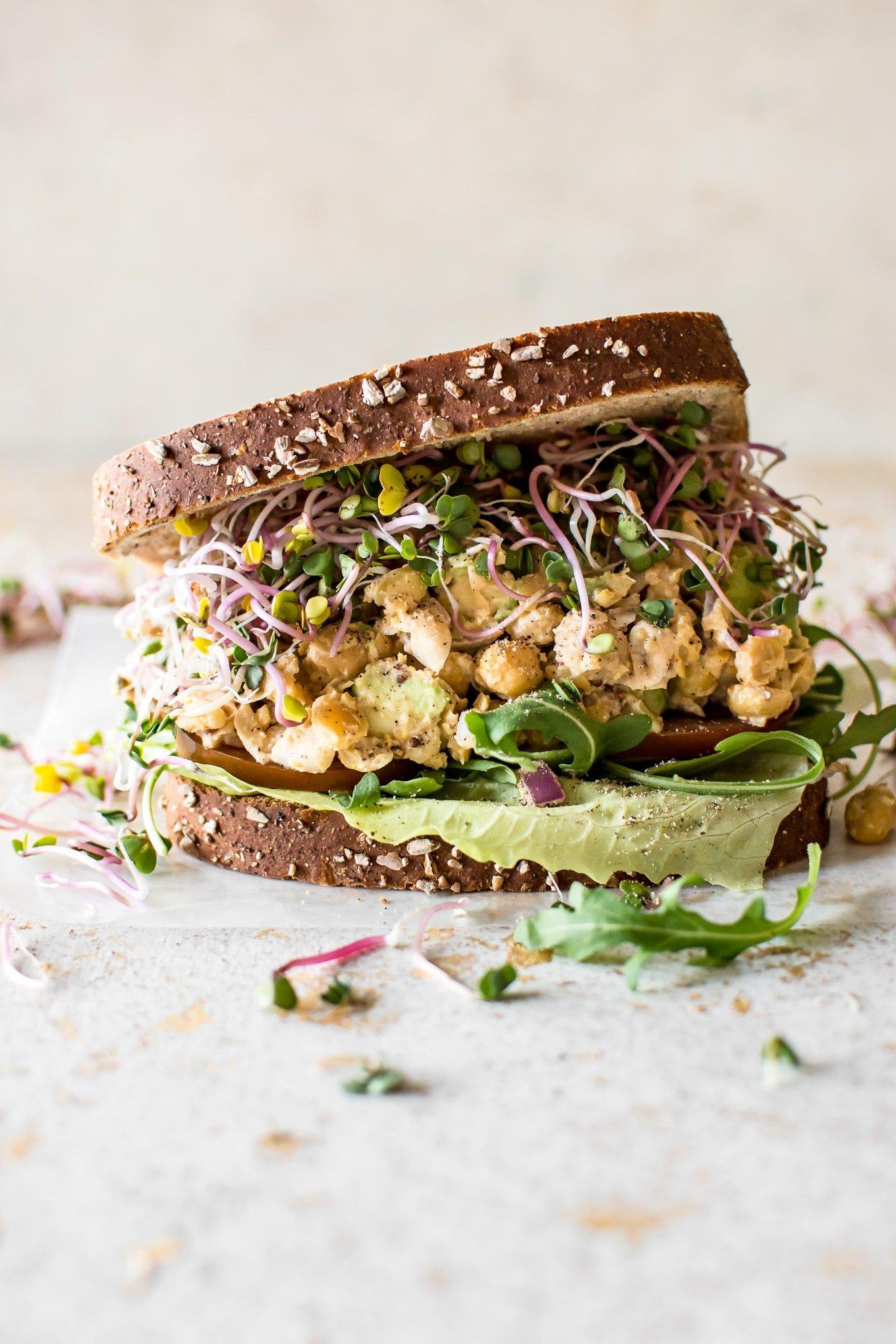 Chickpea Salad Sandwich Recipe Salt Amp Lavender