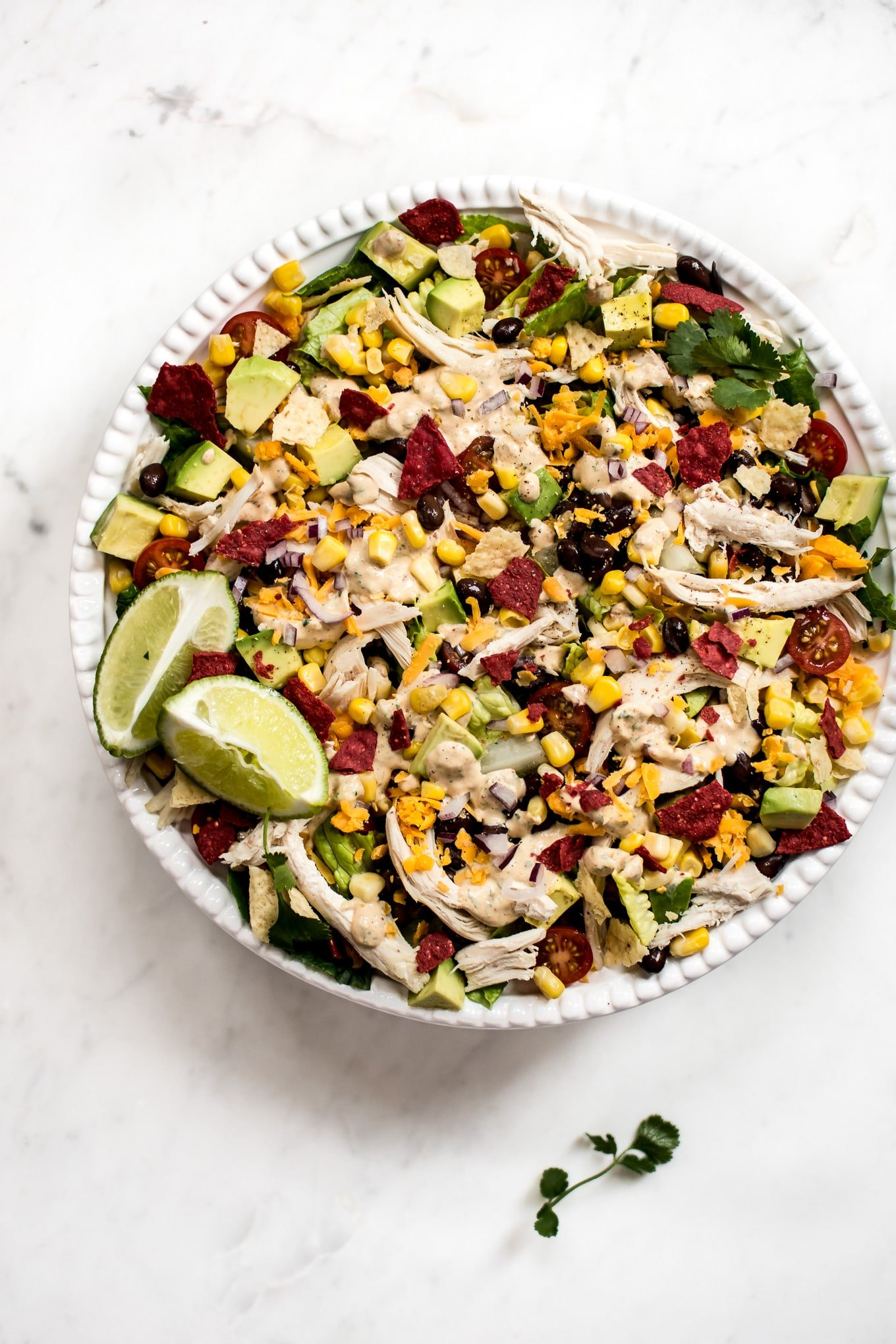 This Healthy Chicken Taco Salad Recipe Is Fresh Filled With Goodies And Topped