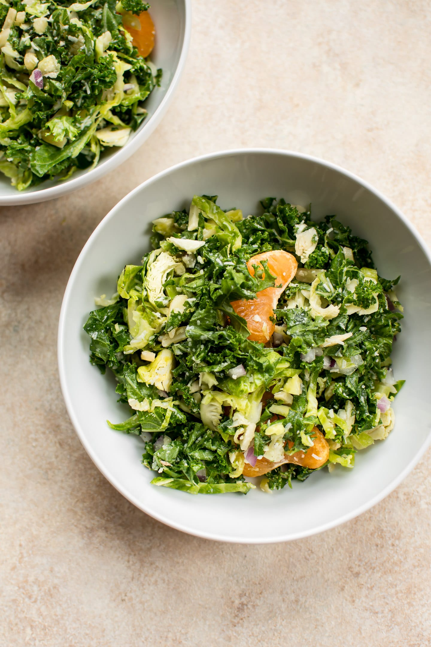 Shredded Kale And Brussels Sprouts Salad Recipe Salt