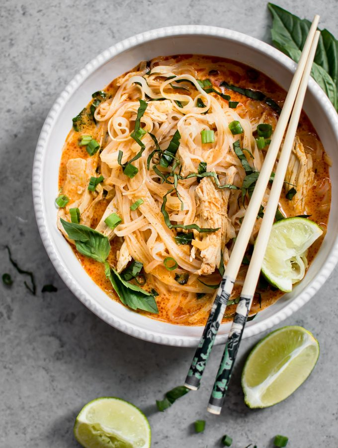 20 Minute Thai Chicken Curry Soup