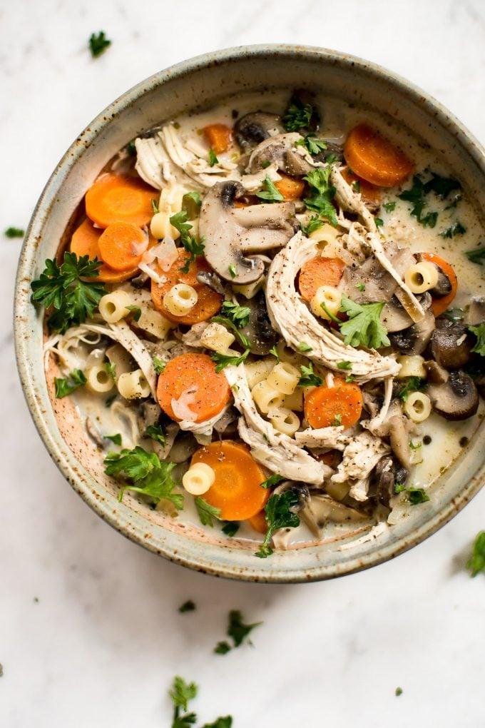 Chicken Mushroom Soup Recipe Salt Lavender