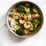 These easy shrimp and broccoli bowls are quick, healthy, and delicious! The perfect tasty weeknight meal idea.