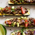 These taco zucchini boats are fun low-carb way to enjoy your favorite taco flavors!