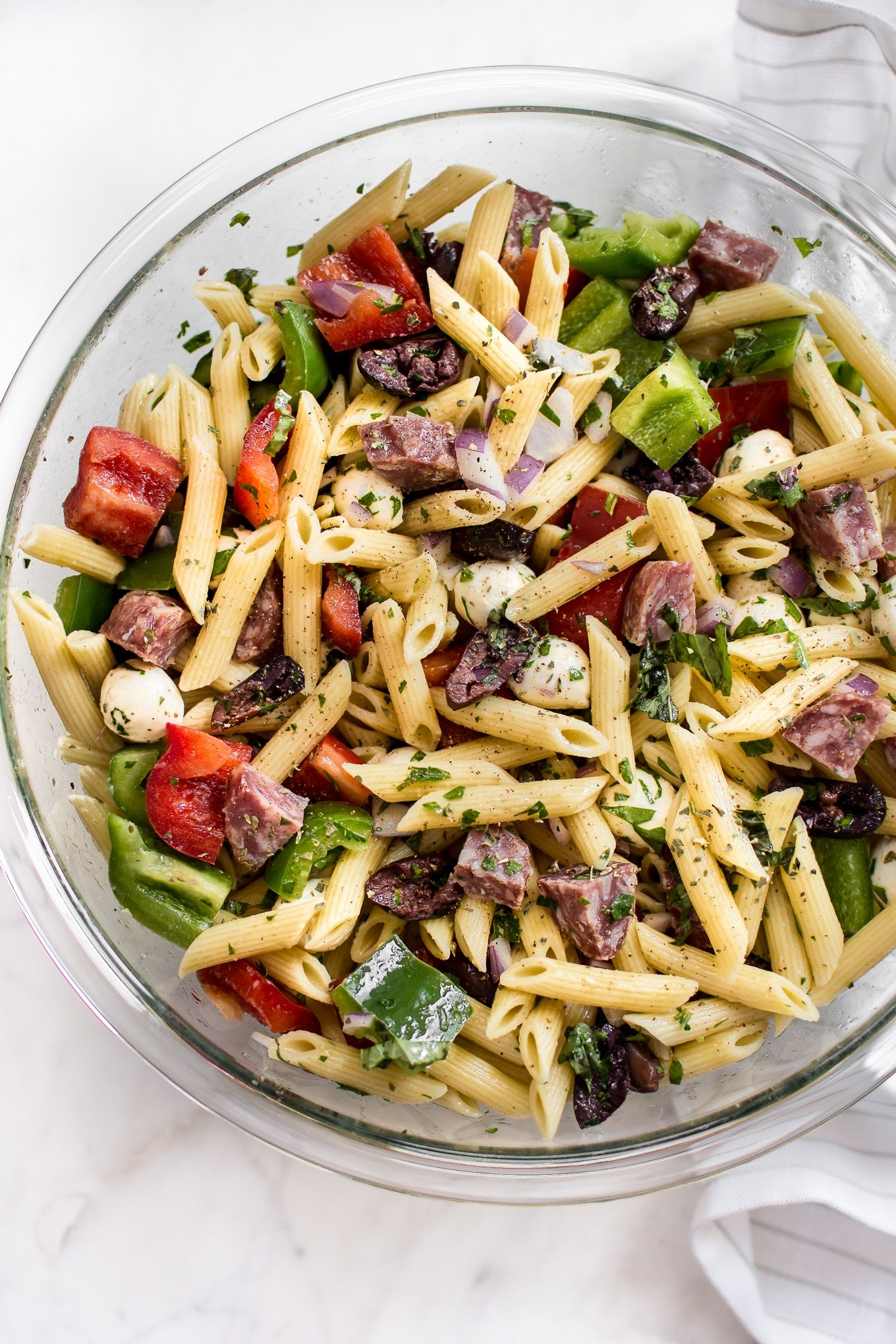 Easy Italian Pasta Salad Recipe Salt Lavender