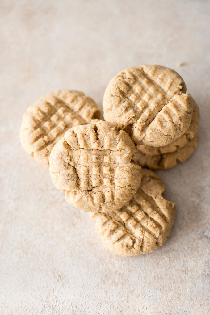 These vegan peanut butter cookies are soft, easy, and have only 4 ingredients! This is the best eggless peanut butter cookie recipe. A quick homemade small batch recipe.