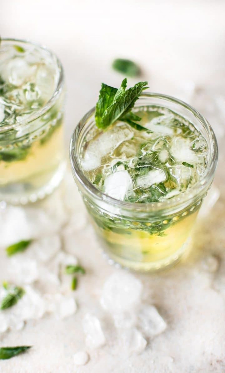 Classic mint julep recipe salt lavender this easy mint julep recipe is the classic refreshing kentucky derby cocktail with bourbon simple forumfinder Image collections