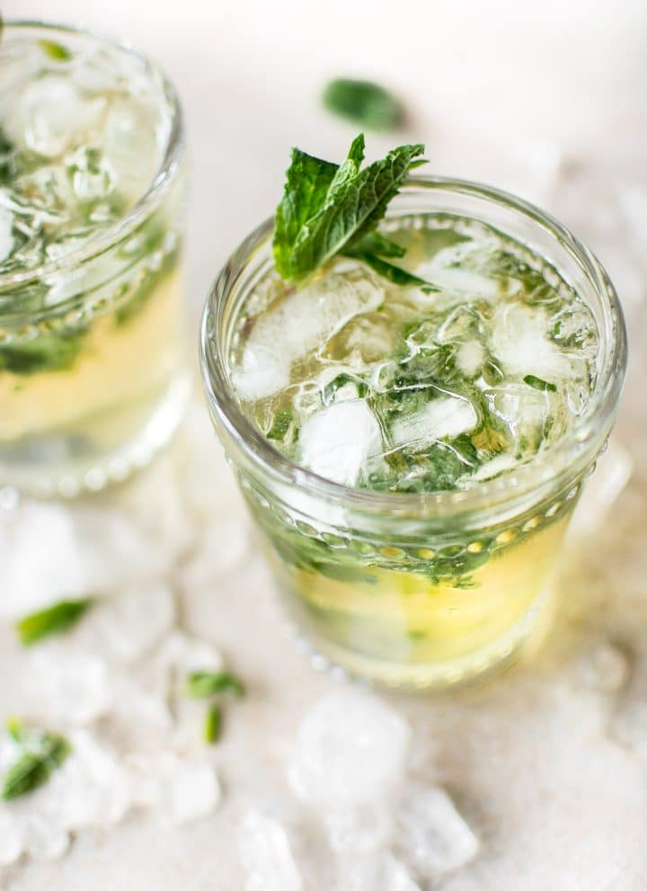 This easy mint julep recipe is the classic refreshing Kentucky Derby cocktail with bourbon, simple syrup, and mint.