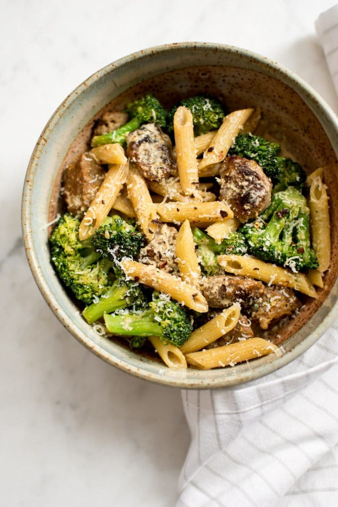 This Creamy Italian Sausage And Broccoli Pasta Is Easy And Fast You Can Use Spicy