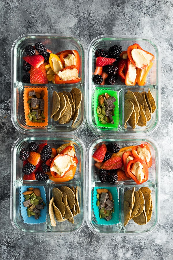 Vegan Bento Snack Boxes - One of 30 delicious vegan meal prep recipes in this roundup!