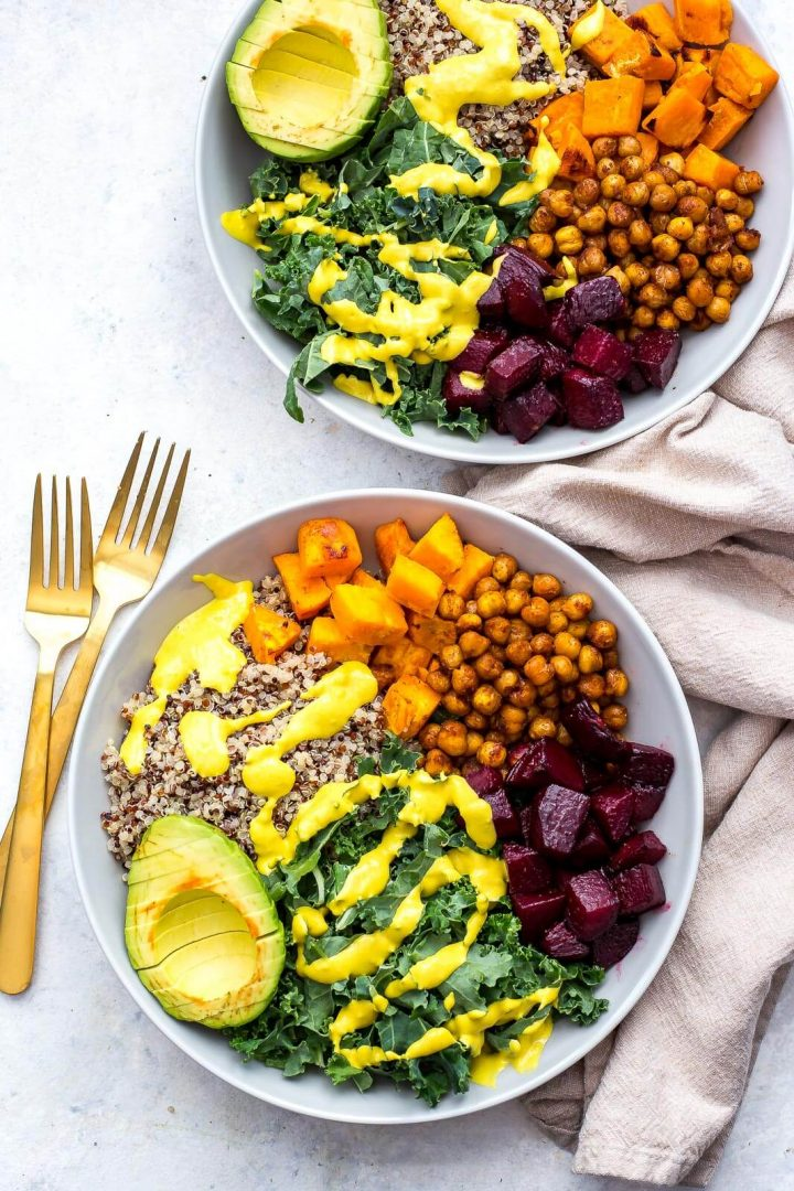Sheet Pan Buddha Bowls - One of 30 delicious vegan meal prep recipes in this roundup!