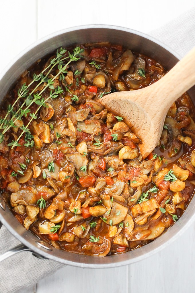 Vegan Mushroom Goulash - One of 30 delicious vegan meal prep recipes in this roundup!