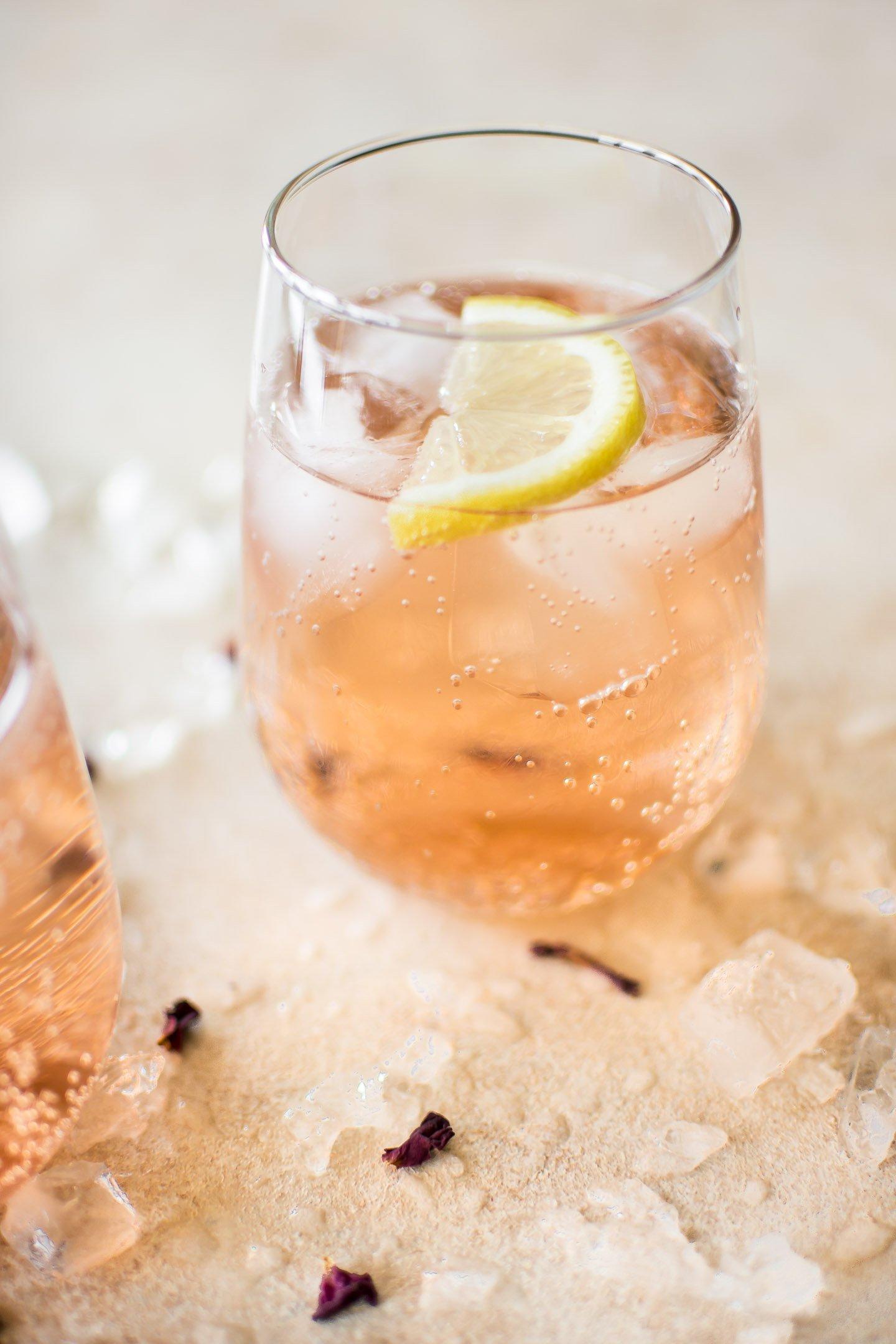 Easy Rosé Spritzer Recipe Salt Lavender