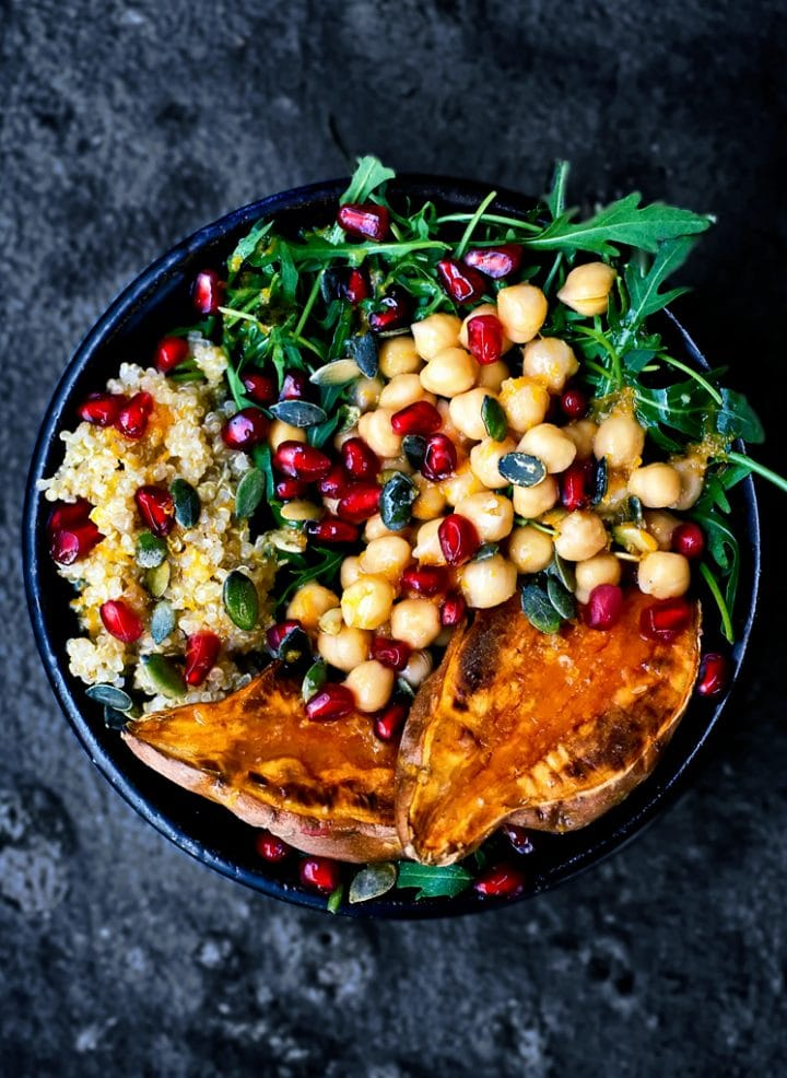 Vegan Moroccan Lunch Bowls - One of 30 delicious vegan meal prep recipes in this roundup!