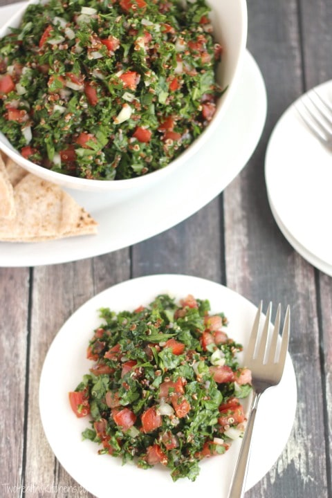 Vegan Tabouli Salad - One of 30 delicious vegan meal prep recipes in this roundup!