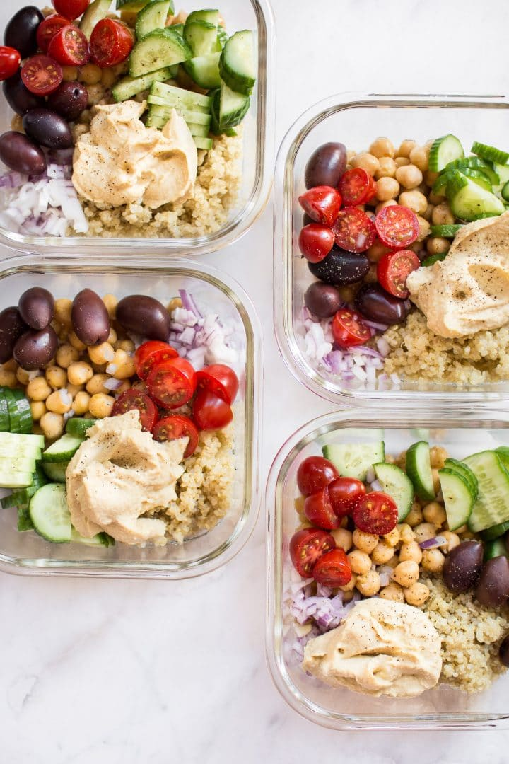 Mediterranean Vegan Meal Prep Bowls - One of 30 delicious vegan meal prep recipes in this roundup!