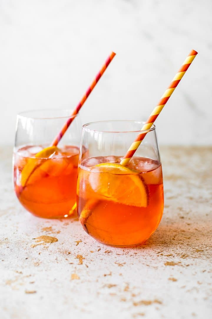 The Aperol spritz - an easy cocktail recipe that's perfect for summer entertaining. It's not too sweet and very refreshing!