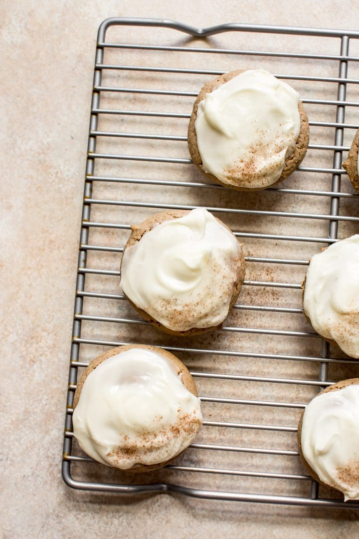 Easy Carrot Cake Cookies With Cream Cheese Frosting Salt Lavender
