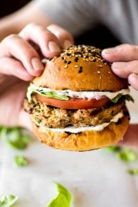 These healthy ground turkey burgers are moist and flavorful and have the best fresh seasoning blend. It's simple to learn how to make turkey burgers on the grill!