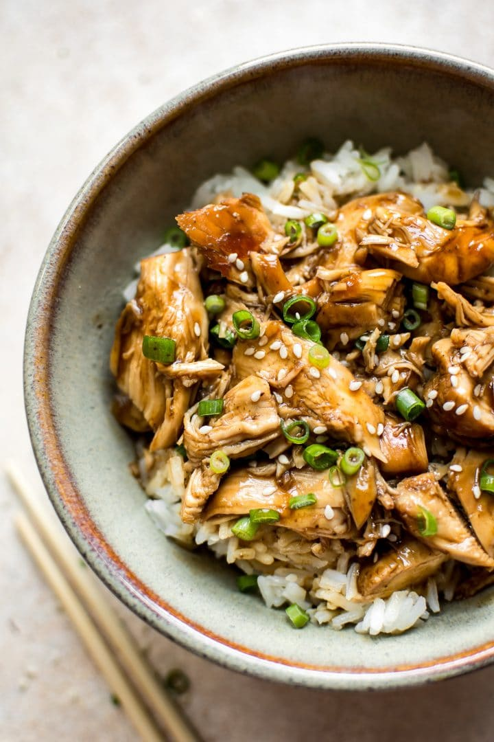 This easy teriyaki chicken recipe is made quickly in the Instant Pot. The best fast weeknight dinner!