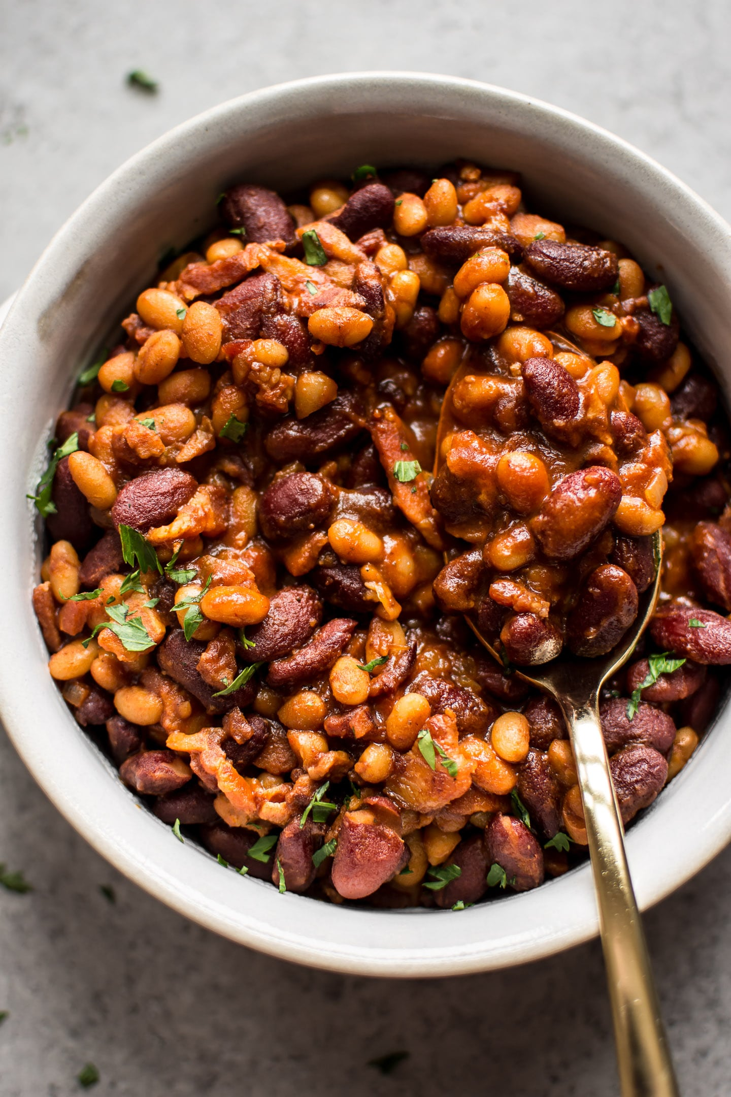 Easy Baked Beans With Bacon Salt Lavender