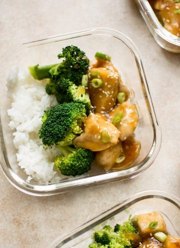 Honey ginger meal prep bowls - an easy and delicious meal prep idea that's a great way to save time on busy weeknights. Perfect lunches or dinners for the week!