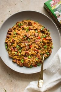 Delicious dirty rice dressing made with Tony Chachere's! The perfect easy holiday side dish with a Creole twist!
