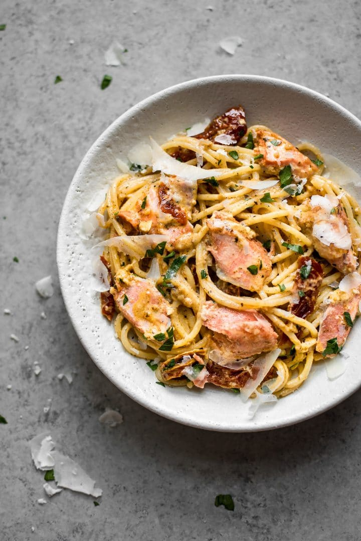 This Cajun salmon pasta has the most delicious creamy and spicy sauce that's perfect for date night!