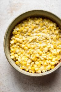 This fast and easy creamed corn recipe is sure to please the whole family. This comforting side dish is perfect for any occasion!
