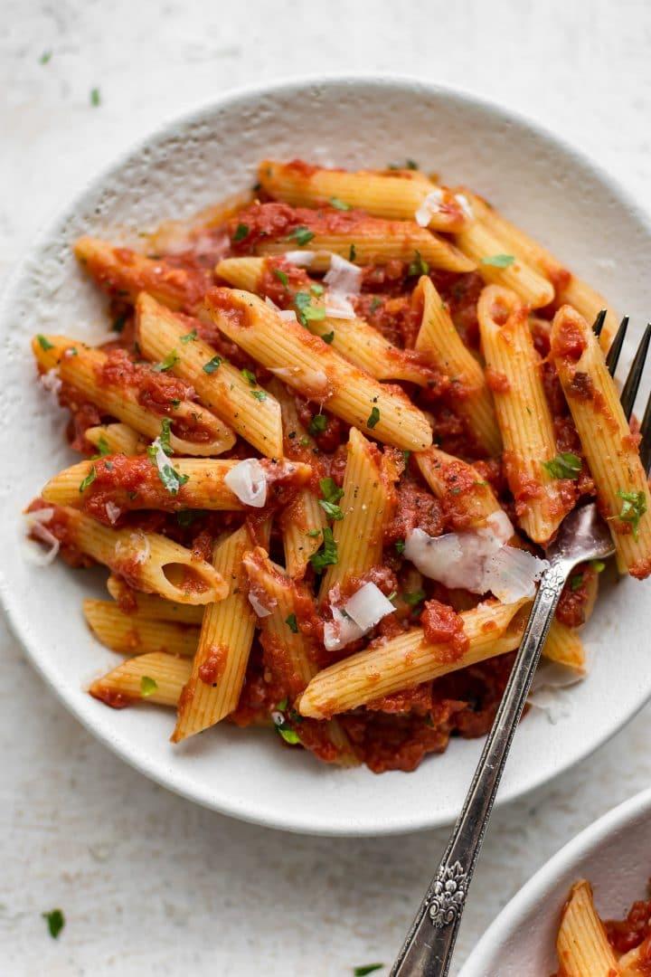 easy pasta arrabiata recipe • salt amp lavender