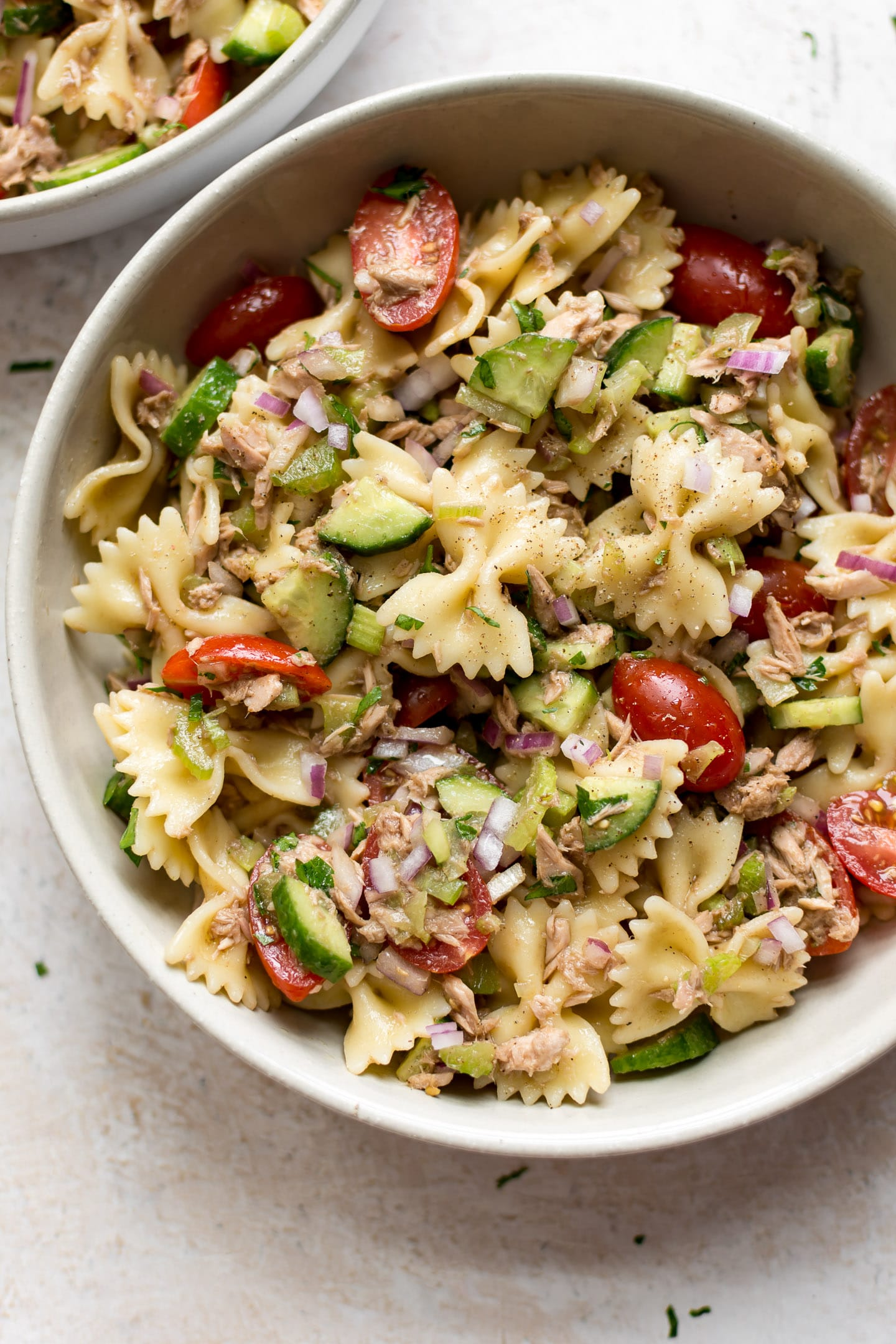 Healthy Tuna Pasta Salad Salt Lavender
