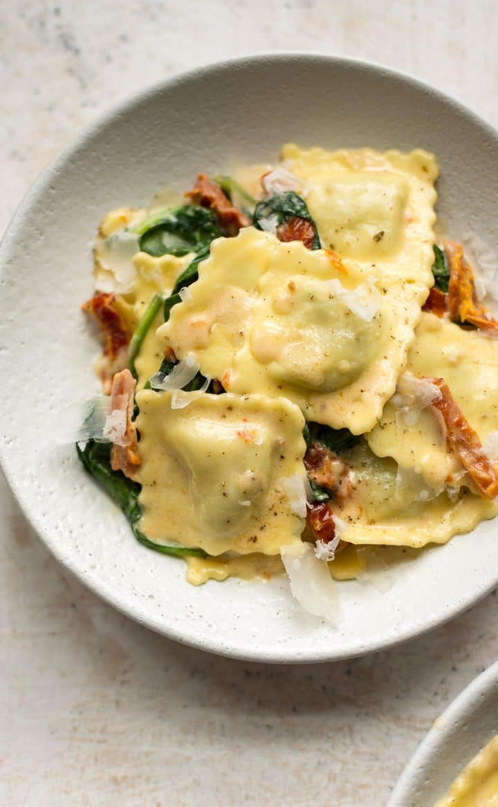 close-up of Tuscan ravioli