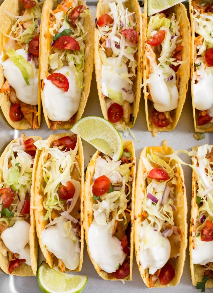 10 oven baked chicken tacos