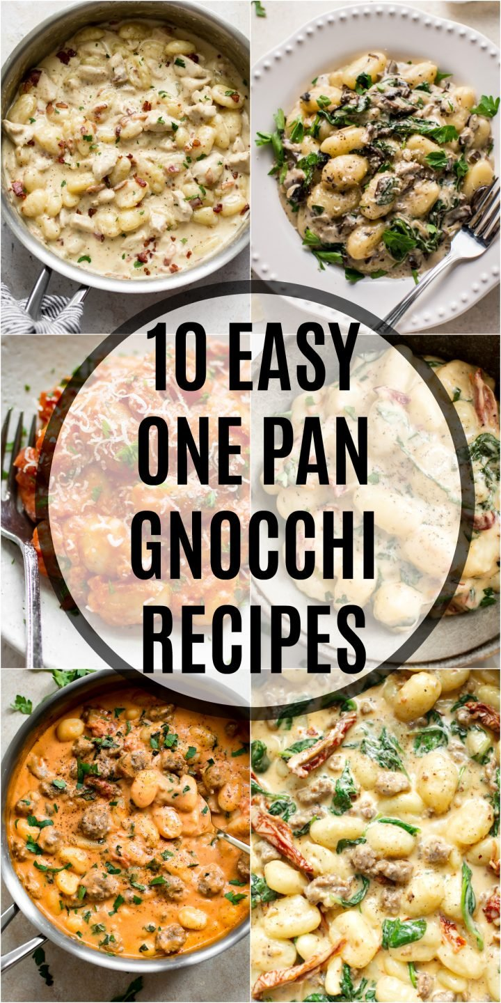 collage for 10 easy gnocchi recipes
