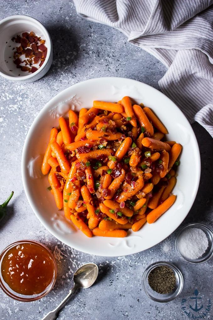 apricot and jalapeno glazed carrots