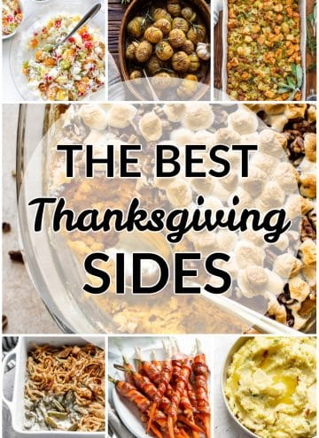 the best Thanksgiving side dishes collage