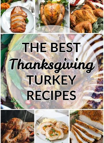the best Thanksgiving turkey recipes collage