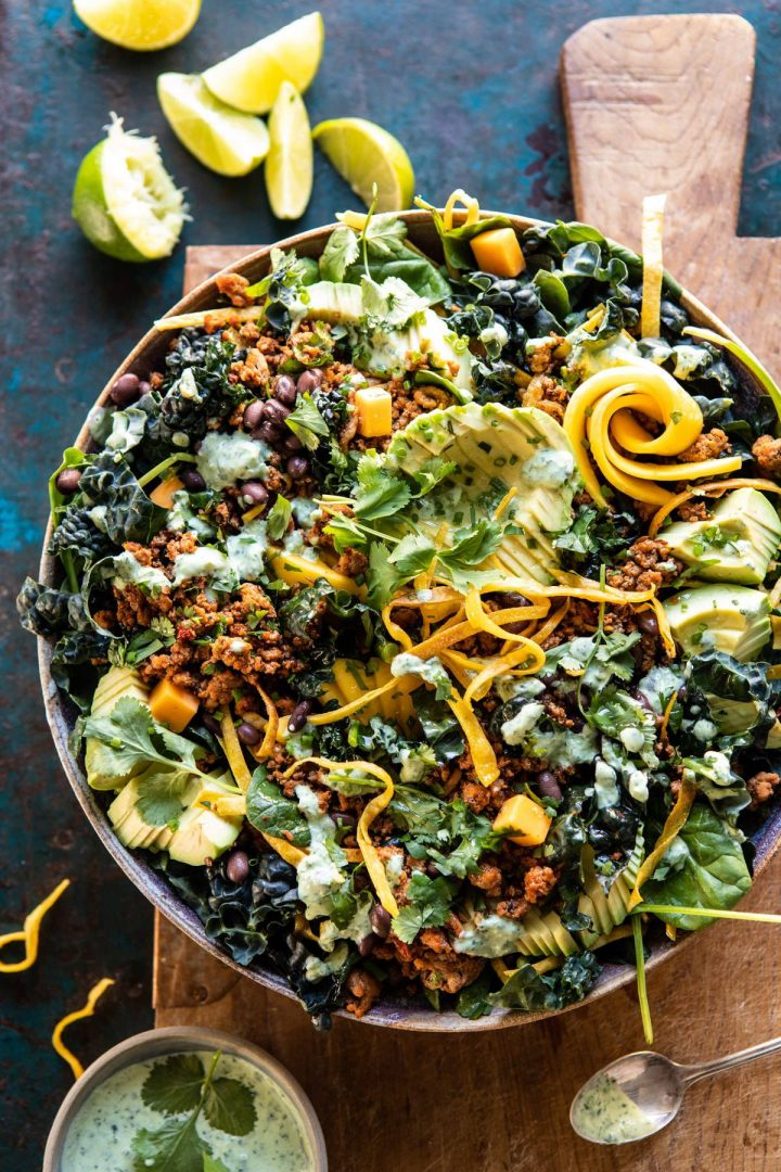 spicy turkey taco salad