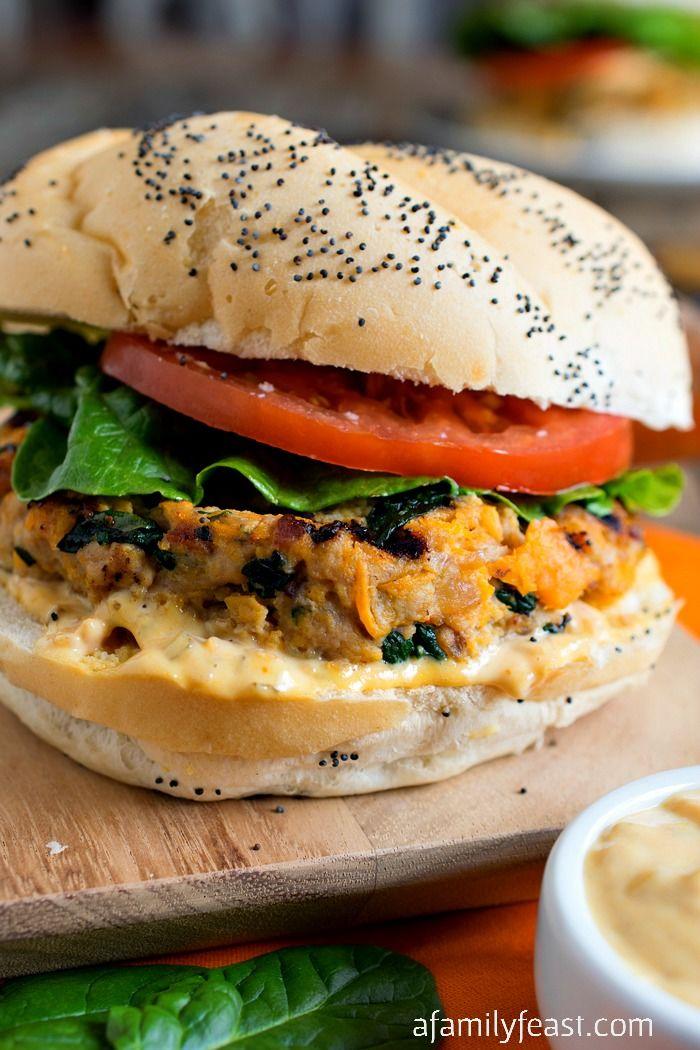 sweet potato spinach ground turkey burgers