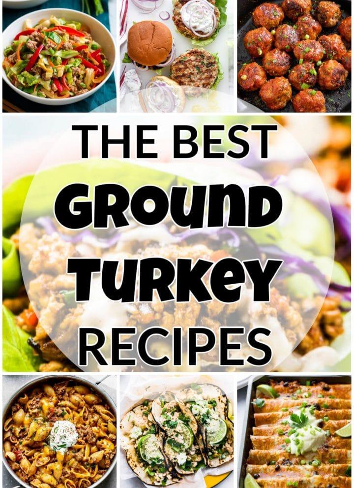 the best ground turkey recipes collage