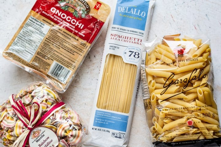 gnocchi and other dried pasta