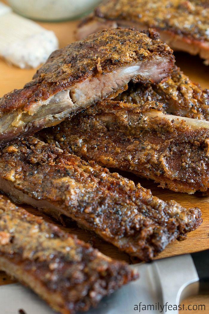 white BBQ sauce pork ribs