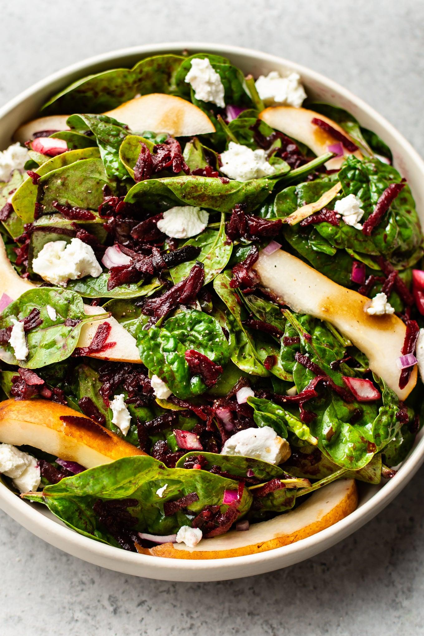 Beet And Spinach Salad Salt Lavender
