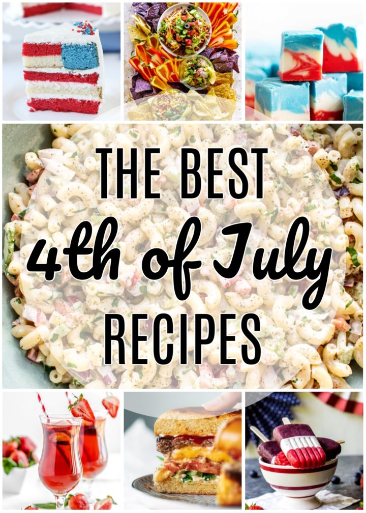collage of the best 4th of July recipes roundup