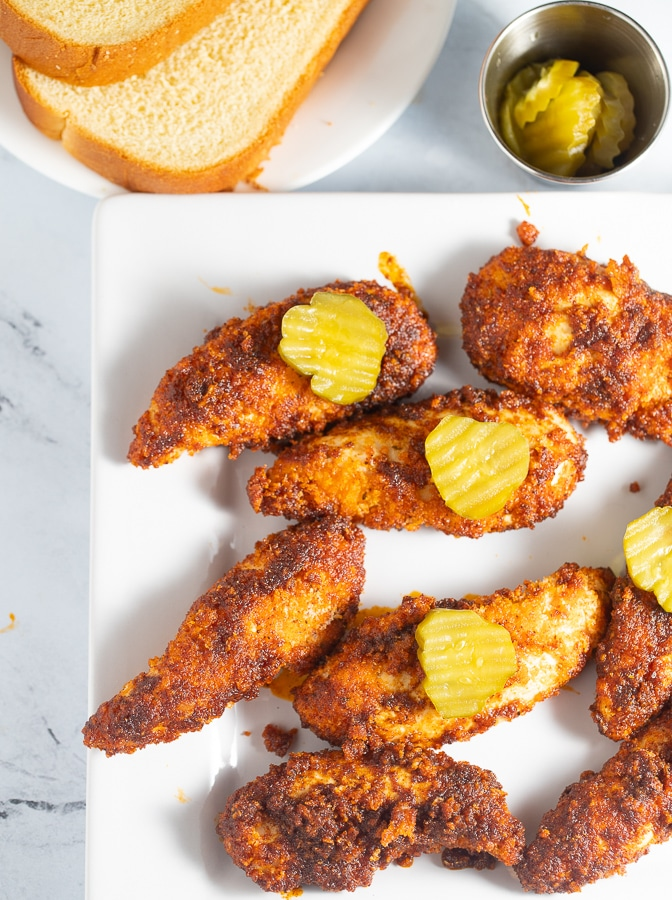 Nashville hot chicken tenders
