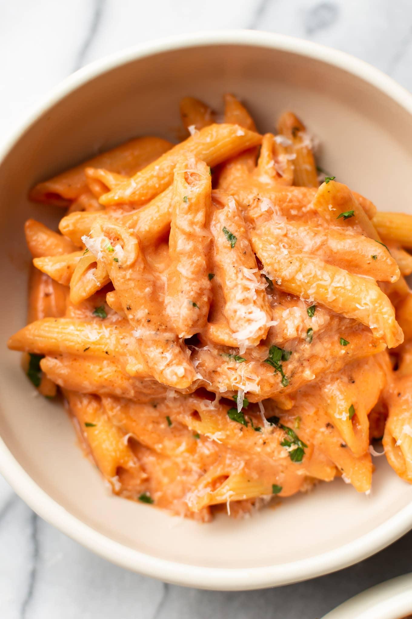 Super Easy Creamy Tomato Pasta Salt Lavender