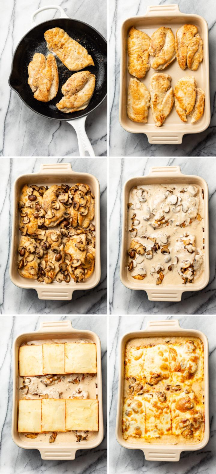 Chicken Gloria process photos collage