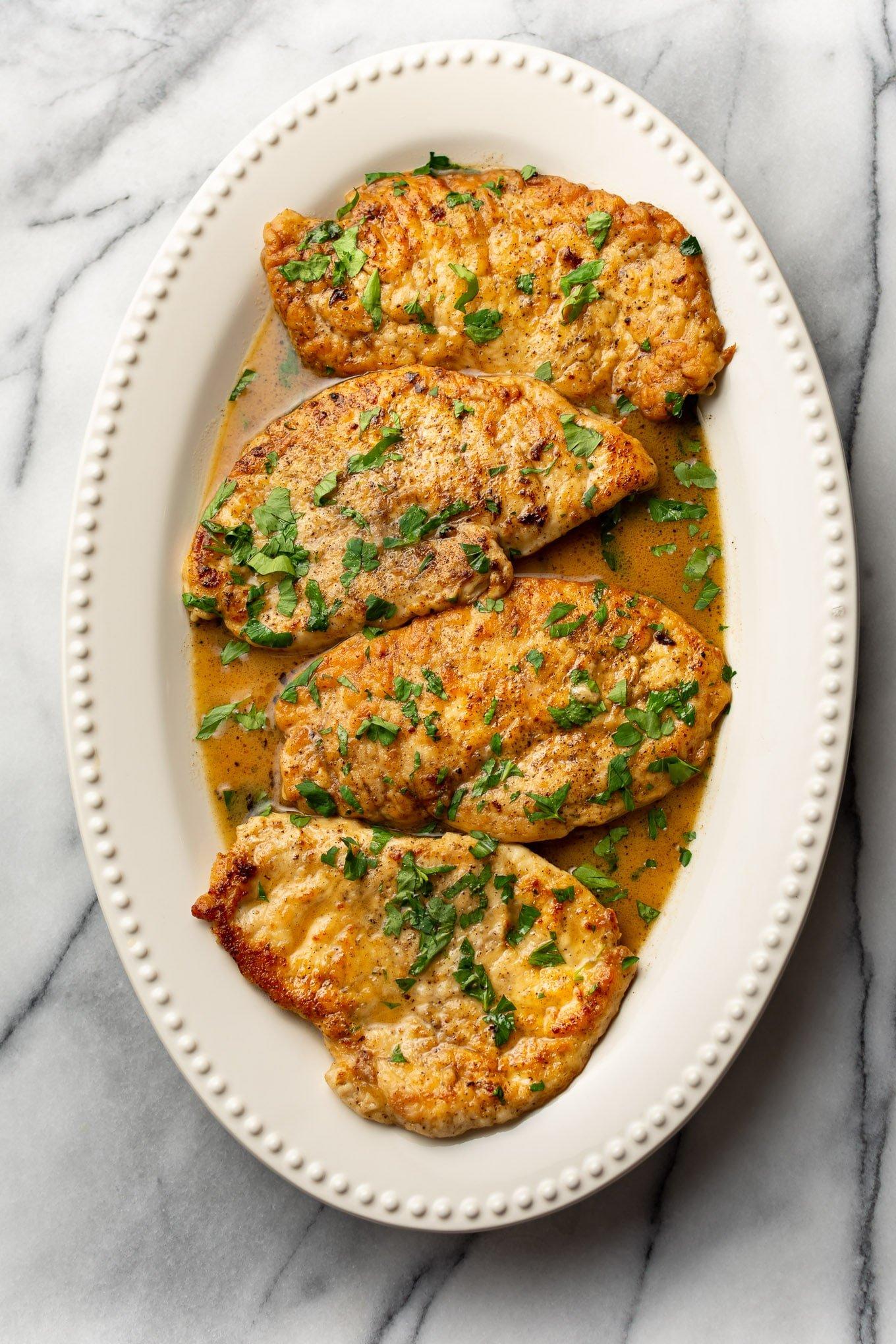 Lemon Butter Chicken Scallopini Salt Lavender