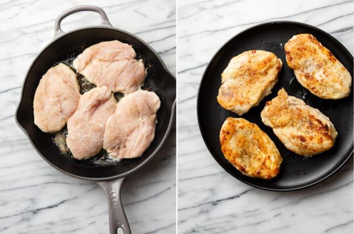 honey mustard chicken recipe process photo collage