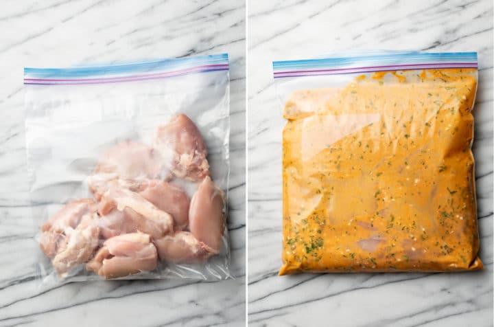 cilantro lime chicken process collage