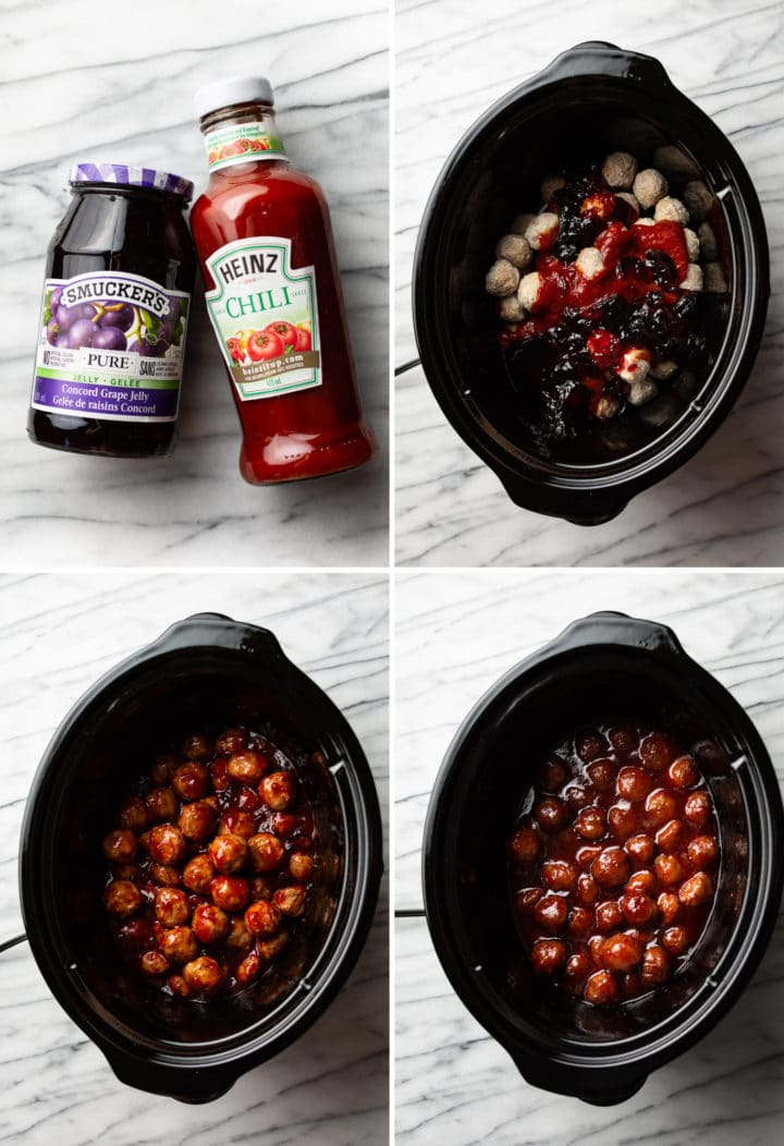 how to make grape jelly meatballs step-by-step process photos